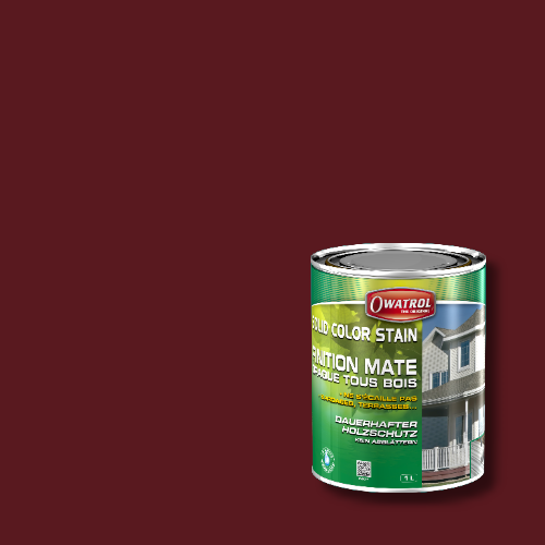 Owatrol Solid Color Stain - RAL 3005 Weinrot