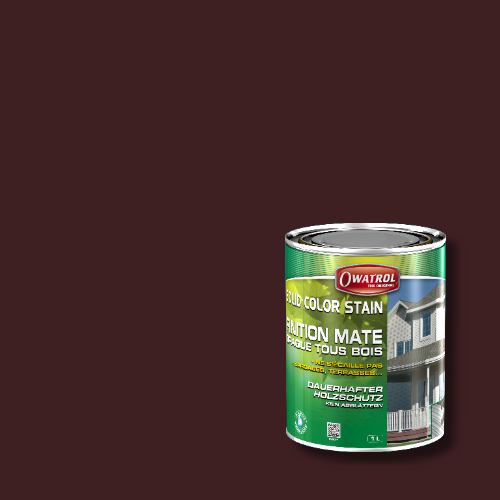 Owatrol Solid Color Stain - RAL 3007 Schwarzrot