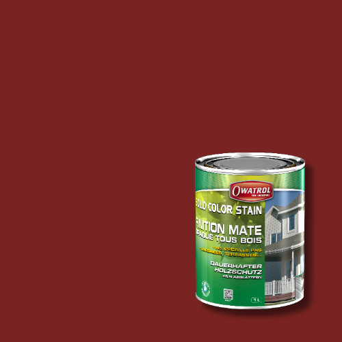 Owatrol Solid Color Stain - RAL 3011 Braunrot
