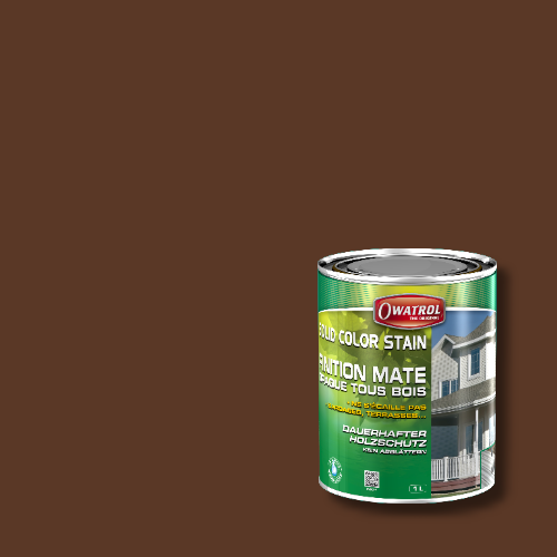 Owatrol Solid Color Stain - RAL 8011 Nußbraun